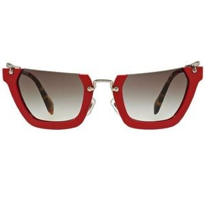 be94a1bf8917 NWOT Miu Miu Red Square Rasoir Sunglasses